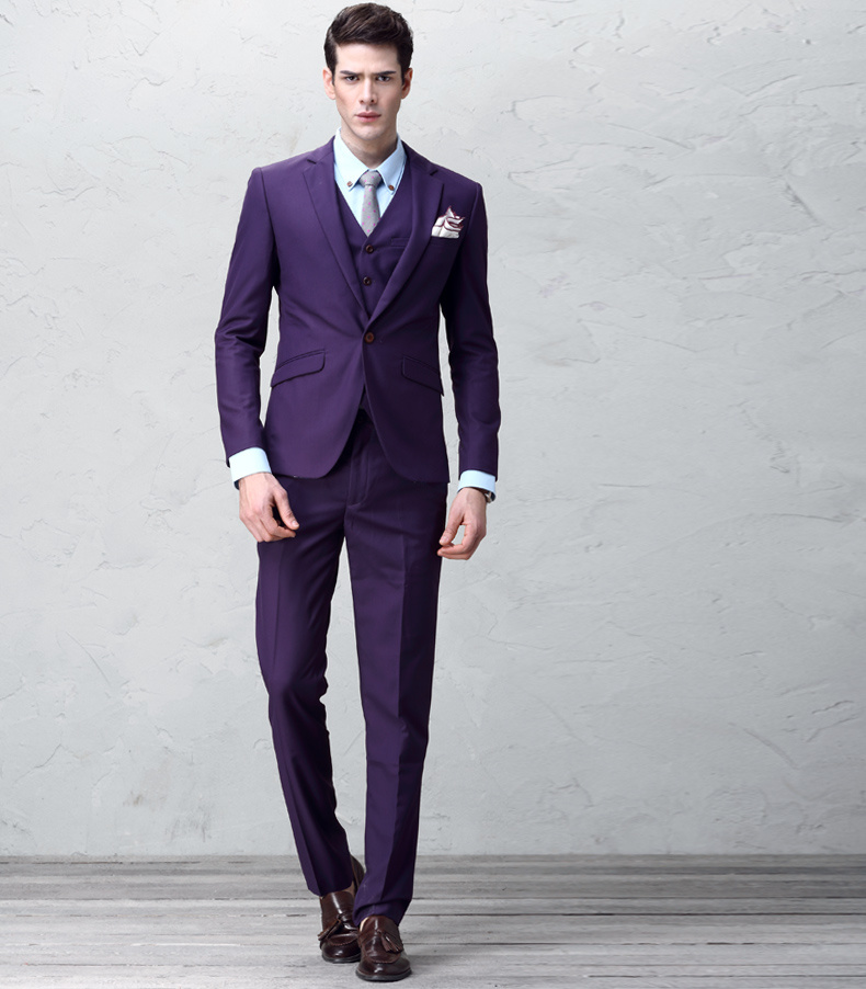 New Arrival High Quality 100% Wool Wedding Dress Suit Men