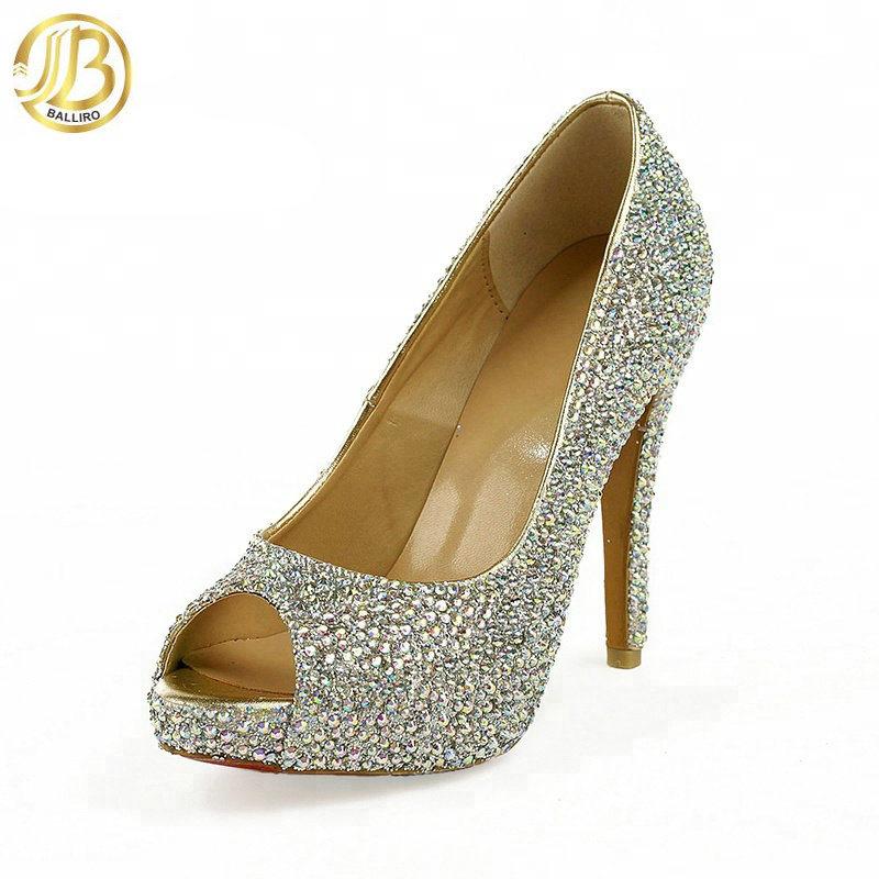 Heel Evening Shoes Open Toe