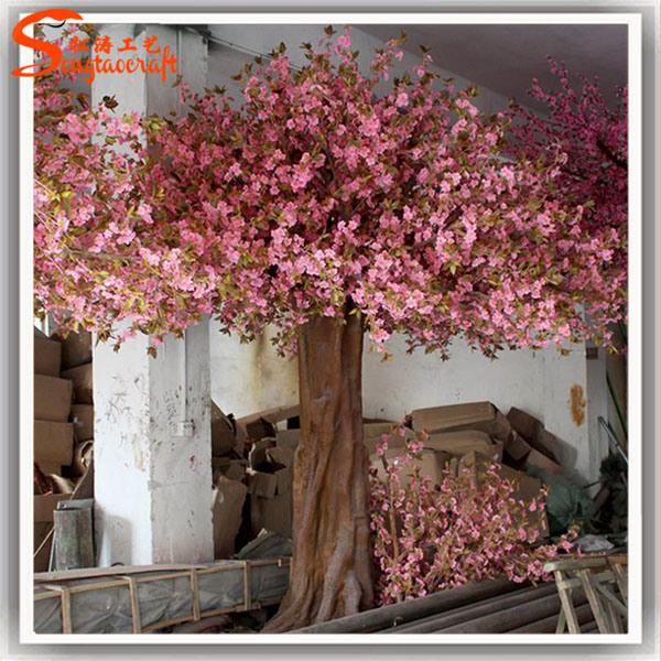 China Guangzhou Artificial Plastic Fake Flower Cherry Blossom Tree