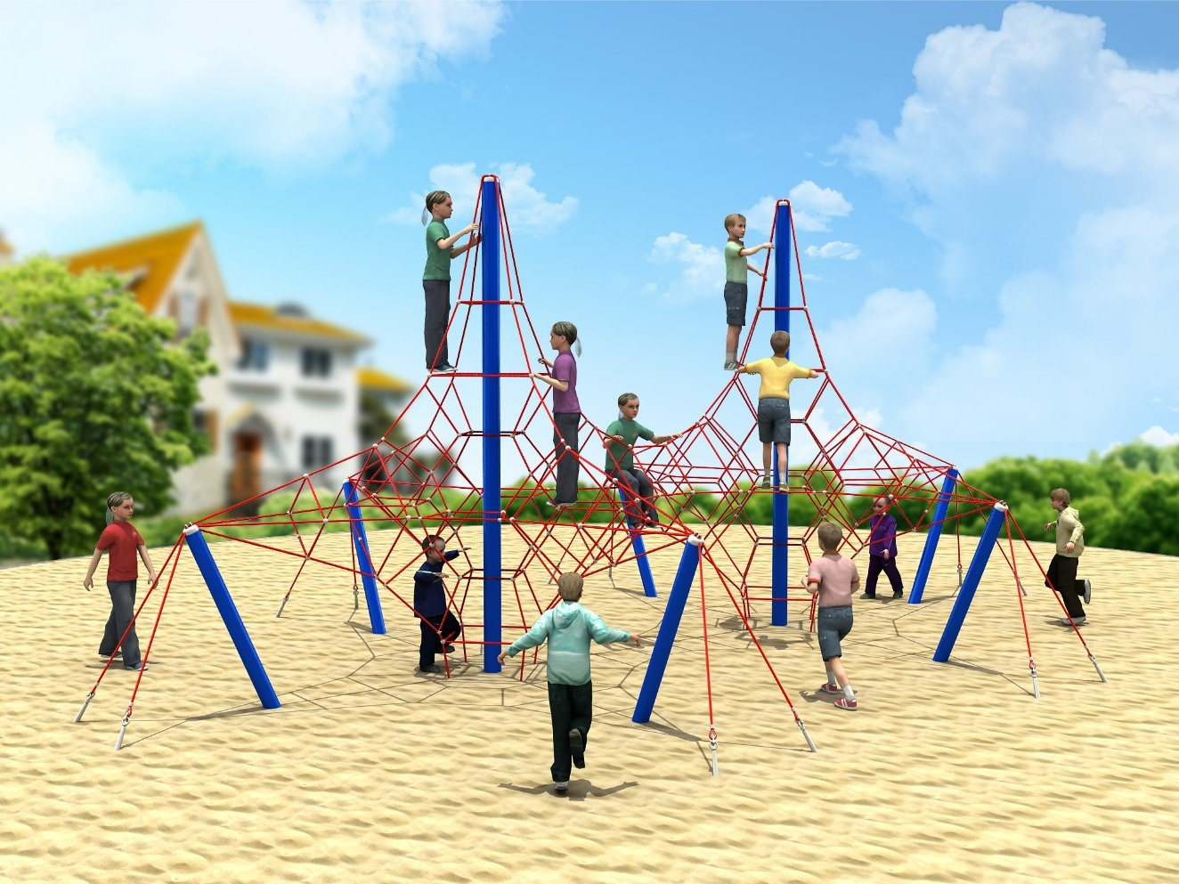 china outdoor fitness playground equipment kids climbing net photos