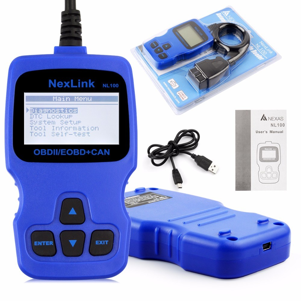 China New Obd2 Car Scanner Nexlink Nl100 Fault Code Reader Eobd Jobd Vxdas Vsp200 Vehicle Super Probe Circuit Tester Kit With Case And Engine Analyzer O2 Sensor Test Better Than Elm327 V15 Ad310