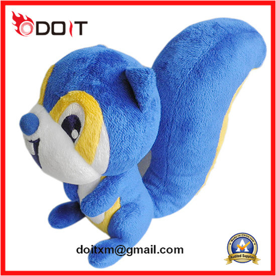 Plush Toy Claw Maching Plush Toy Blue Squirrel Plush Toy