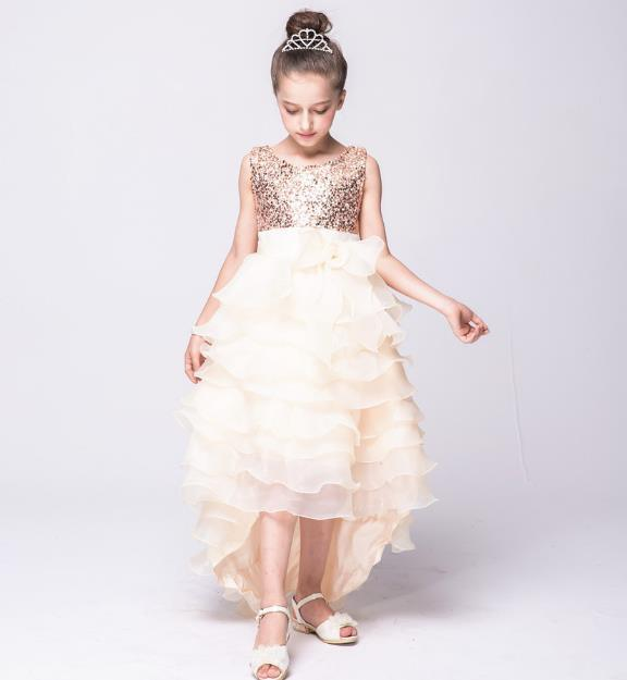 28ff894208e9 China Sequin Mesh Flower Party Wedding Gown Bridesmaid Tulle Dress Little  Girl Ruffles Lace Party Dresses - China Kid Wedding Dress