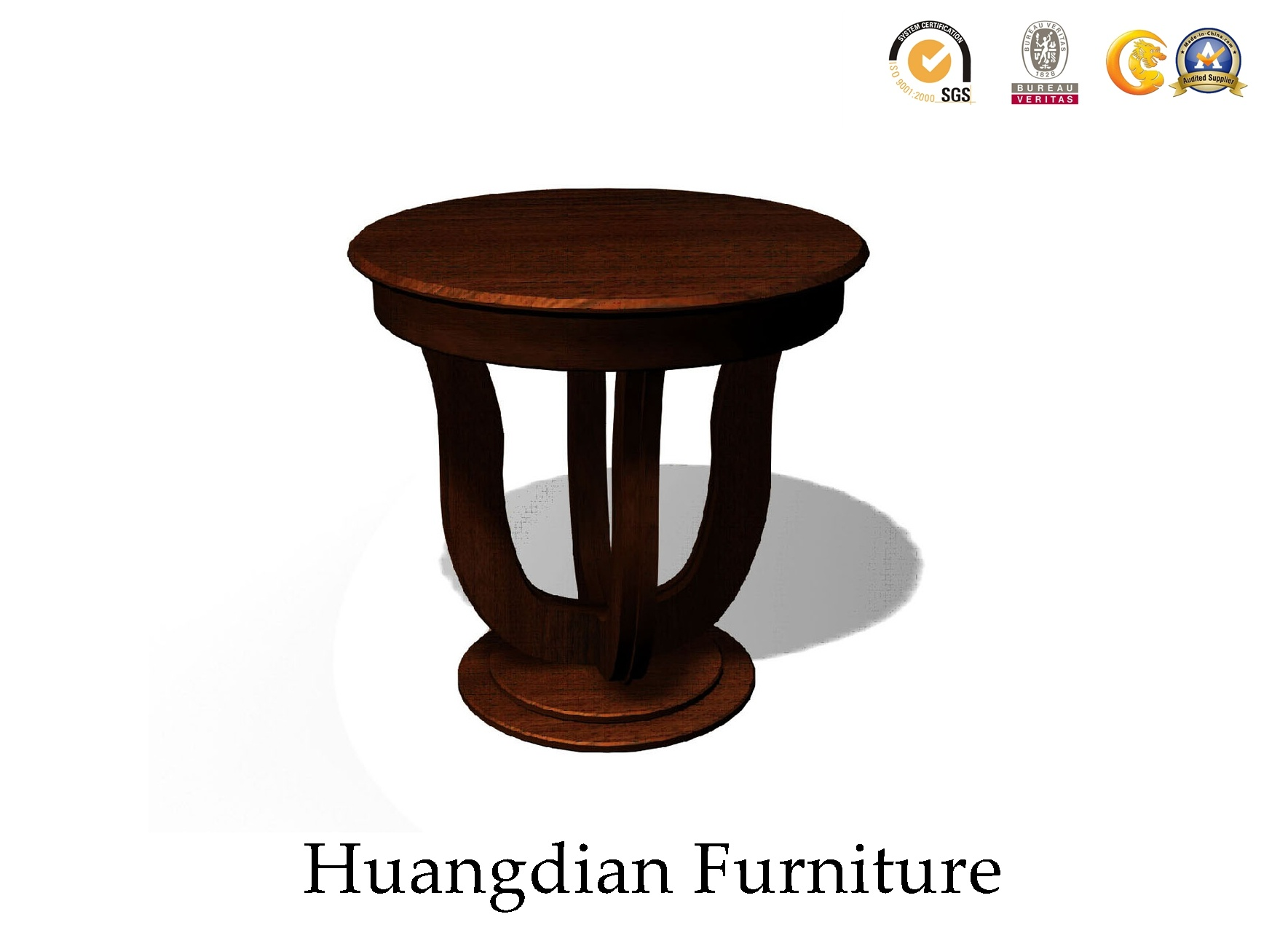 Hot Item Small Round Wooden Coffee Table End Side For Living Room Hd106