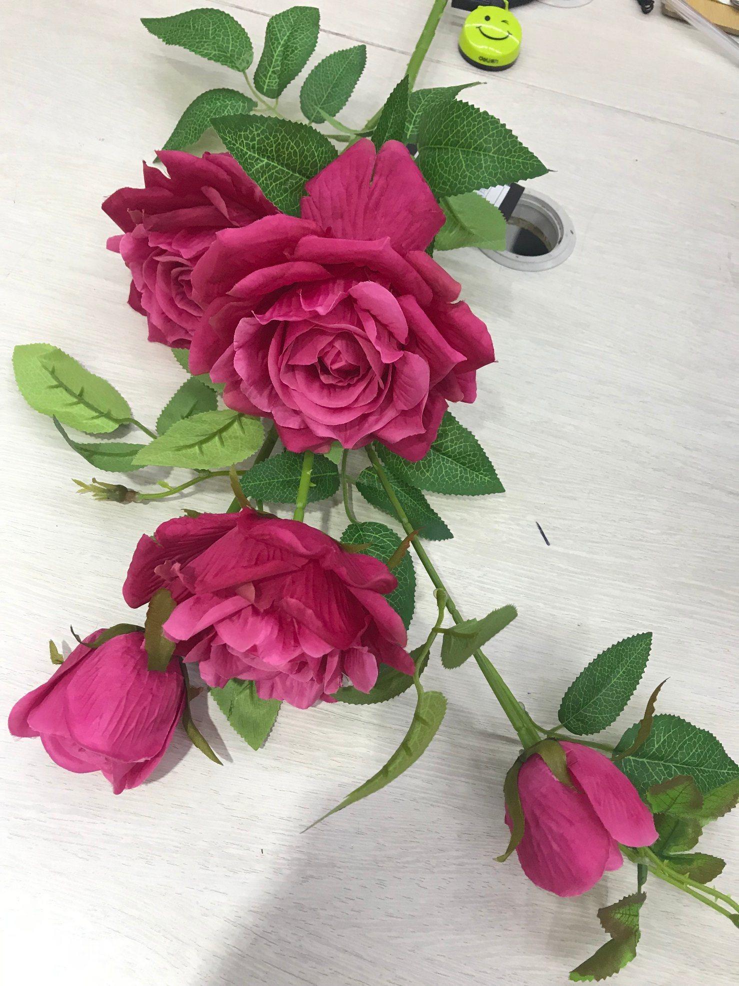 China Beautiful Fake Artificial Flower Silk Rose Wedding Home