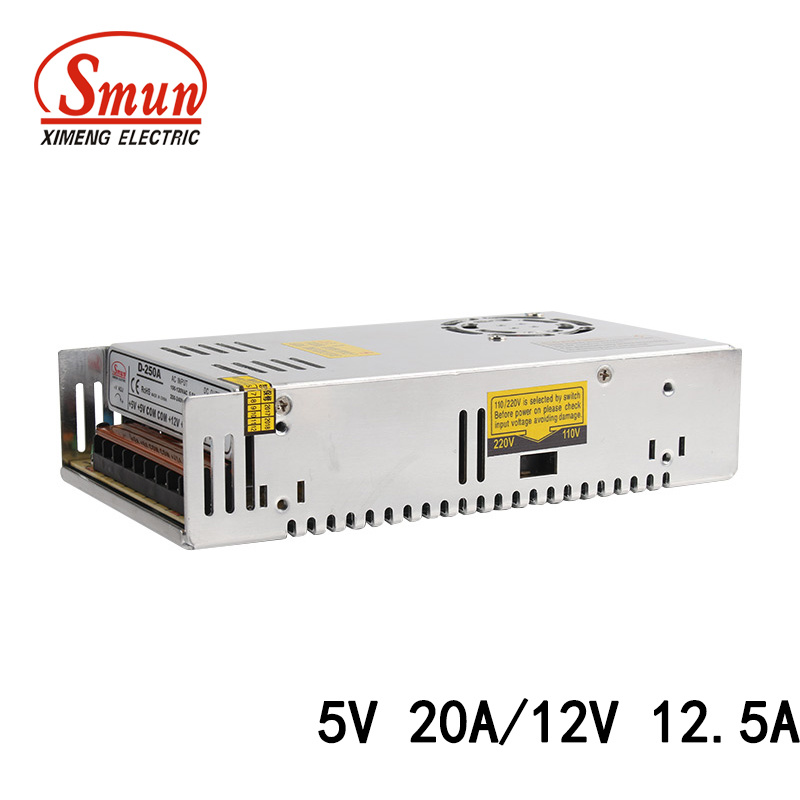 [Hot Item] D-250A 5V 20A/12V 12 5A 250W Dual Output Switching Power Supply