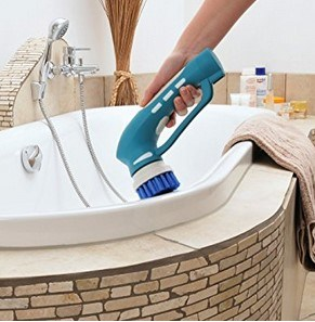Evertop Cordless Handheld Scrubber For Bathroom Tile Shower Kitchen Barbecue Gas Grill