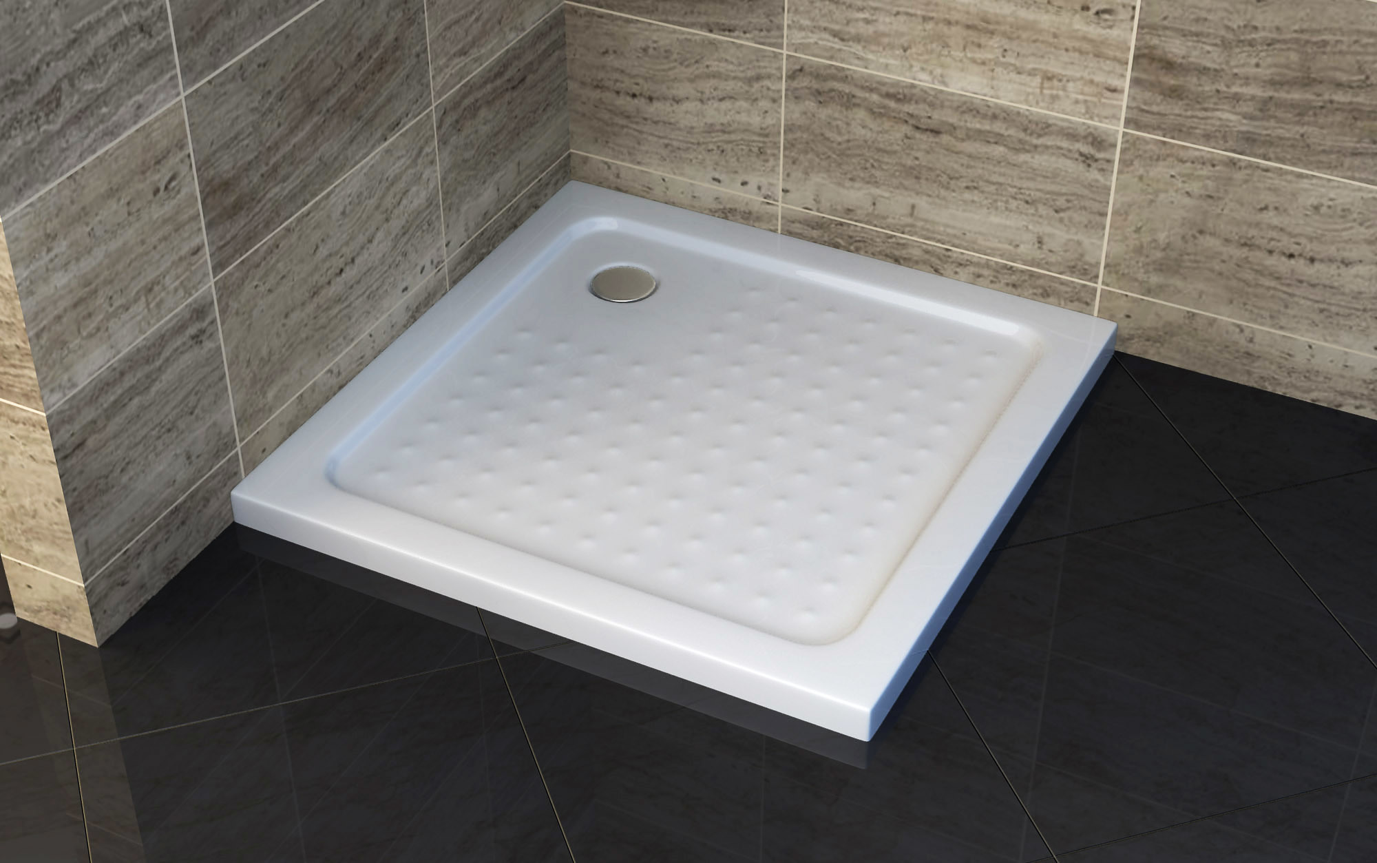 China Bathroom Square ABS Anti Slip Shower Tray Photos & Pictures ...