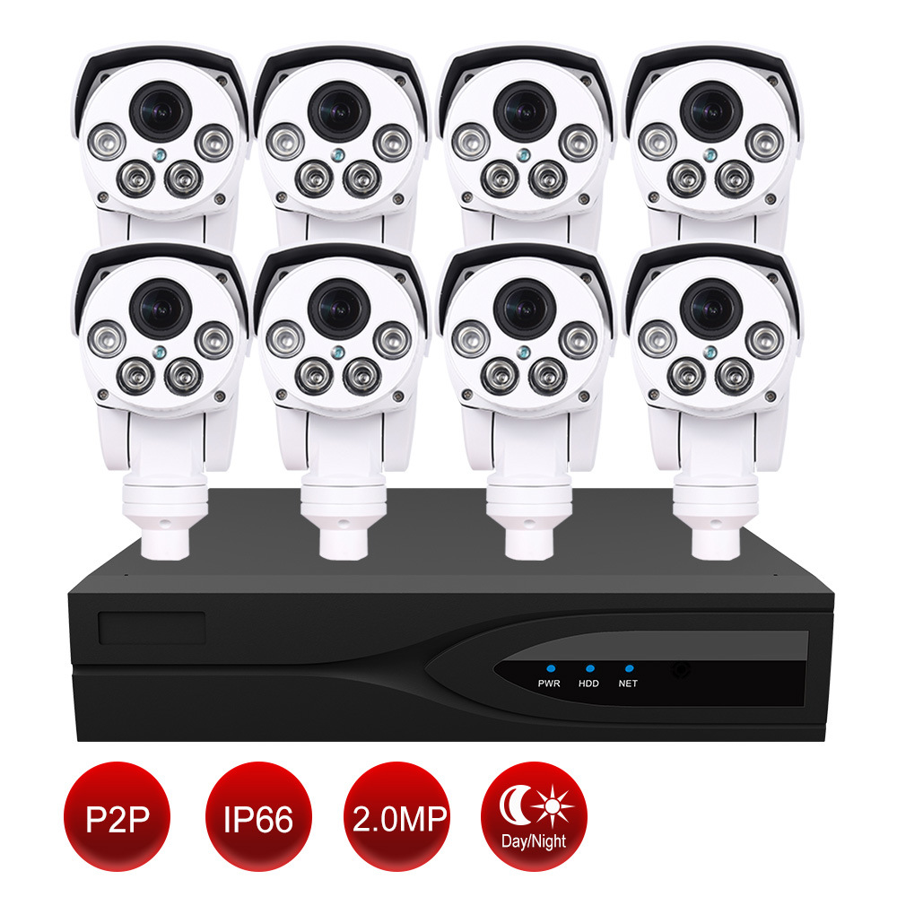 1080P HD IP PTZ Camera Kit for Smart Home- 1 PC 8 Channel NVR+ 8 PCS IP PTZ Camera pictures & photos