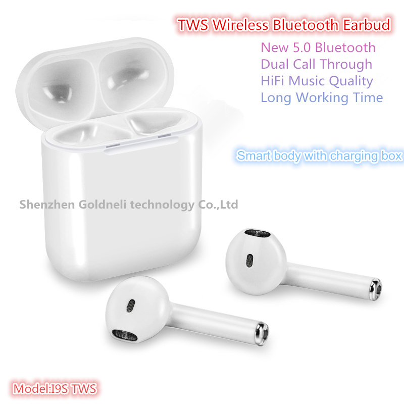 China I9s 5 0 Tws Dual Call Through Wireless Bluetooth Earbuds Earphones For Mobile Phone Iphone Huawei Samsung China Bluetooth Headset And Bluetooth Earphone Price