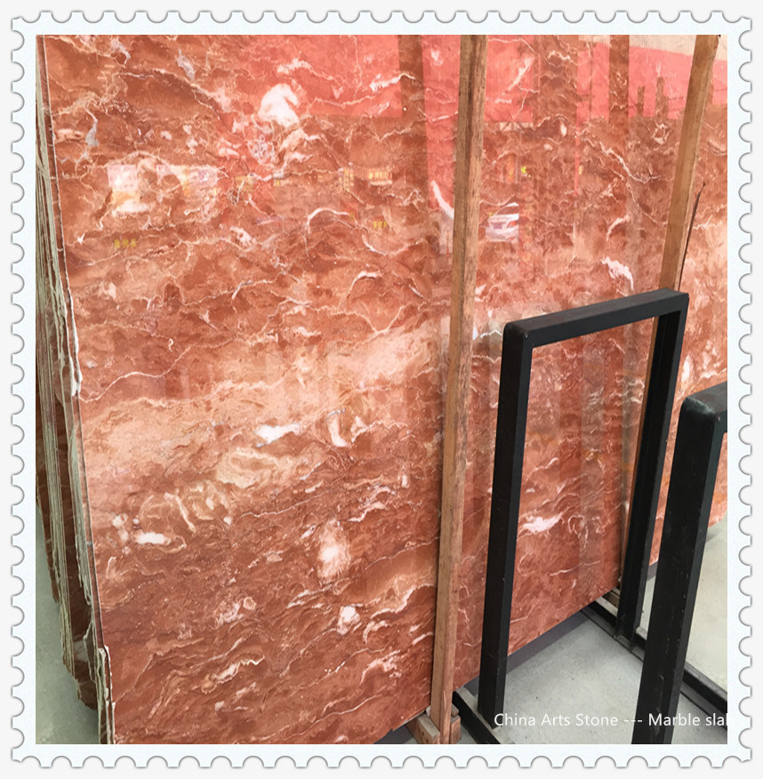 China Rosso Levanto Red Marble Floor Tile For Commercial Building