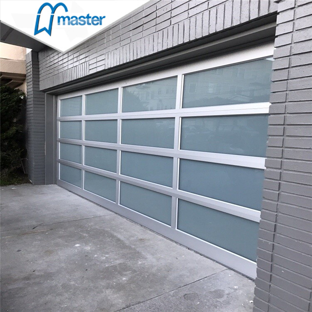 China 16x7 Frosted Aluminum Sectional, Frosted Glass Garage Doors