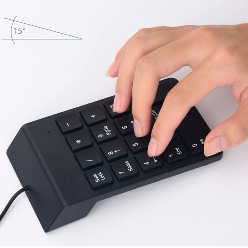 Portable Slim Mini Wired USB Number Pad Numeric Keypad Keyboard
