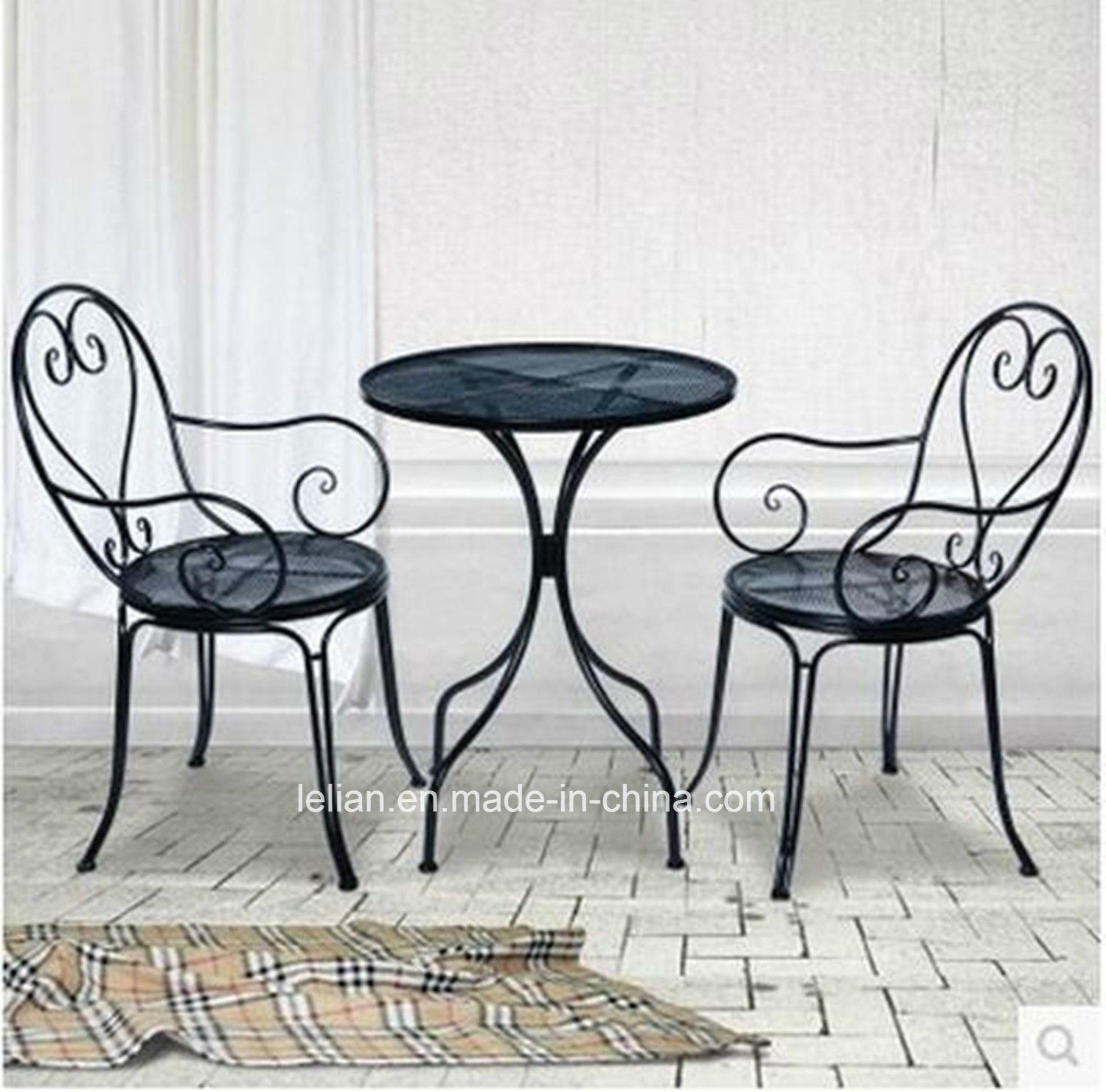[Hot Item] Outdoor Garden Furniture Iron Table and Chair Set (LL-WST8)