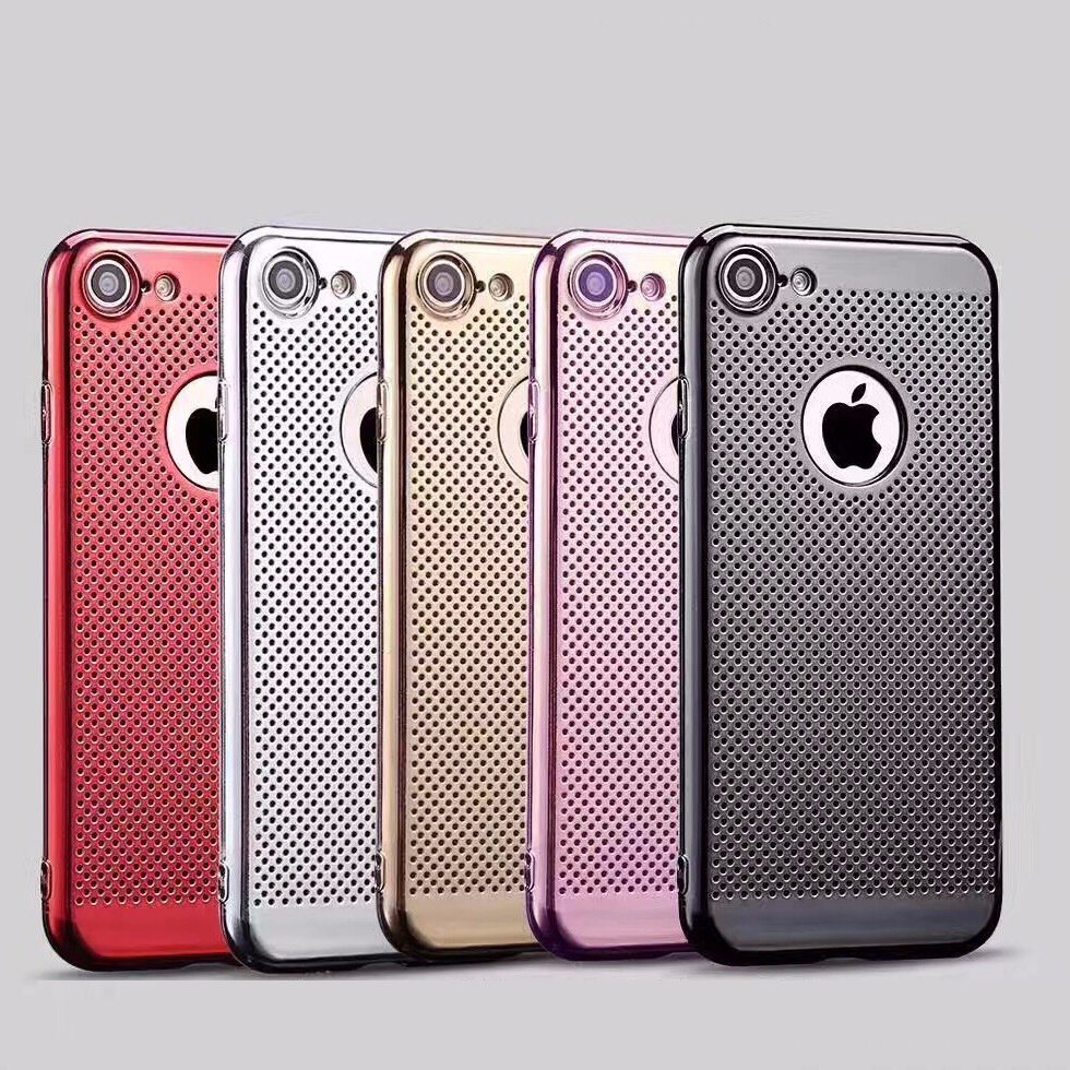 Electroplated Laser TPU Mobile Phone Case Cover for iPhone 7