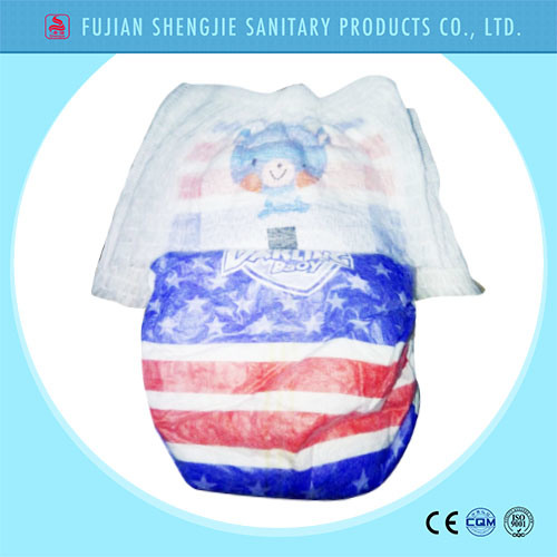 OEM Customized Pant Style Cotton Waistband Disposable Baby Diaper