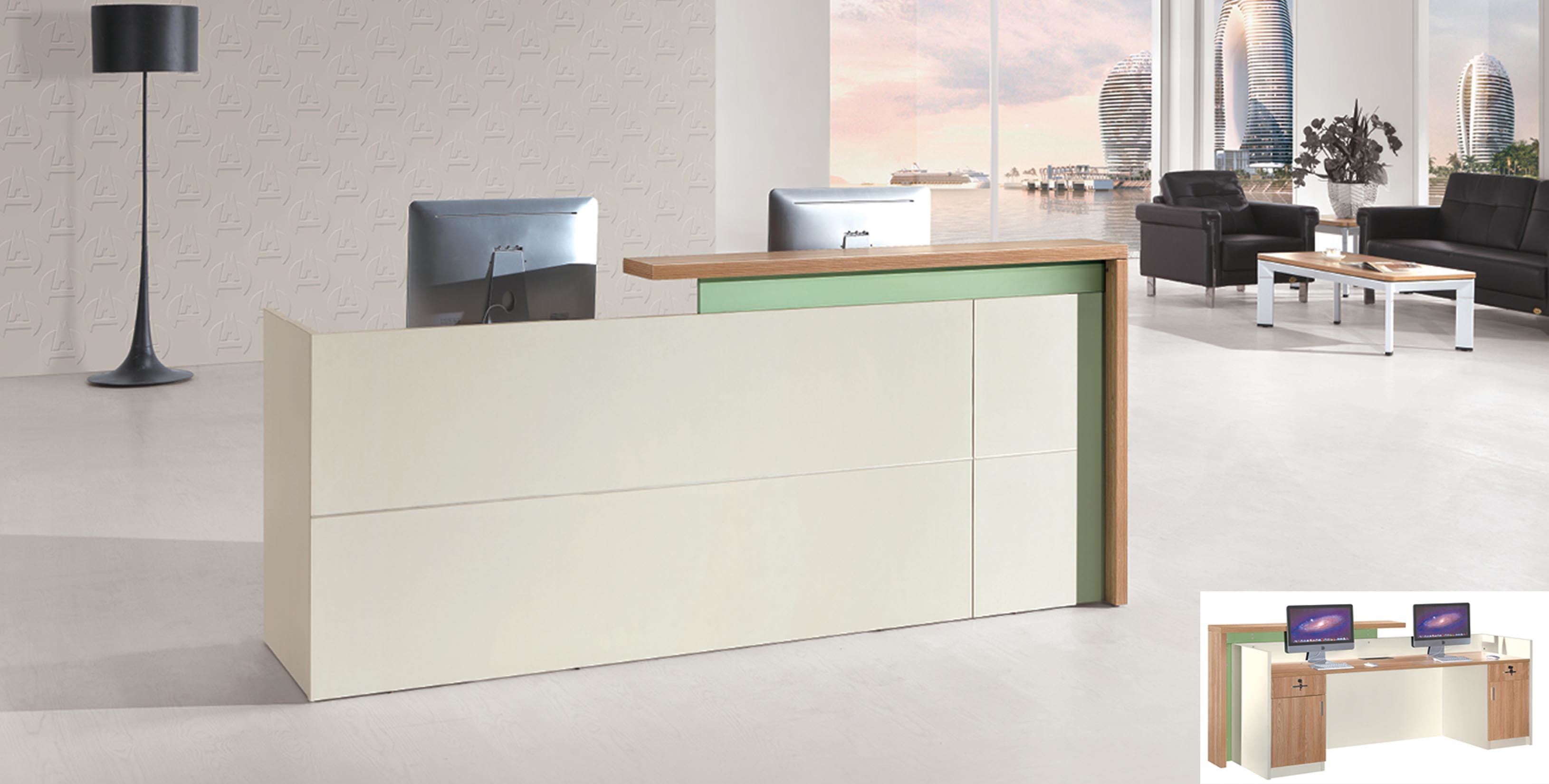 Modern Office Commerical Front Secretary Reception Desk