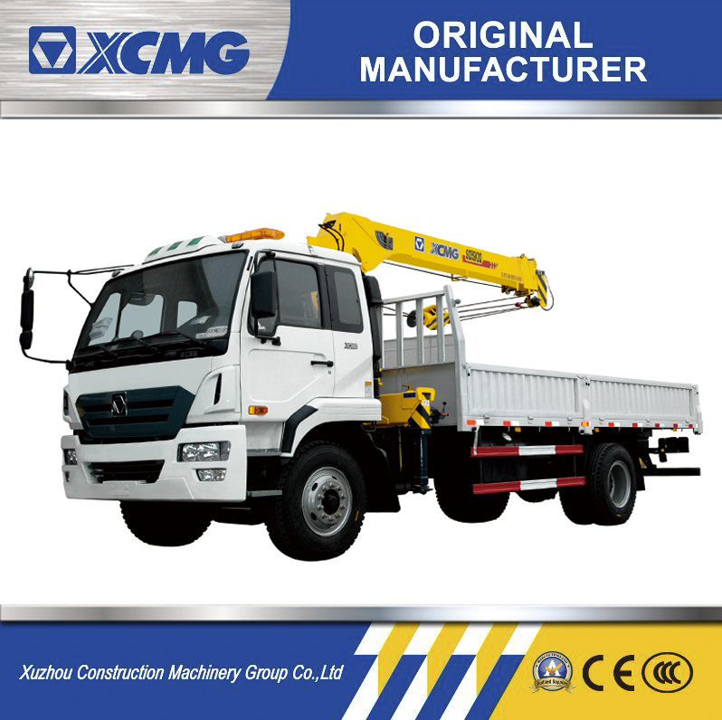 XCMG Sq5sk3q 5 Ton Mini Telescopic Boom Truck Mounted Crane 12.6m Pickup Truck Mounted Crane Price (more models for sale)