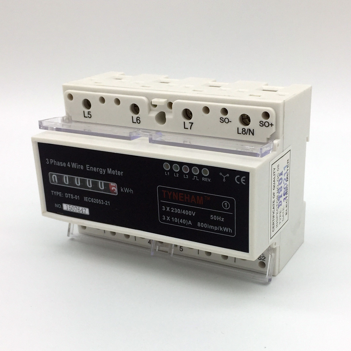 Dts-4r Series DIN Rial Mounted Three Phase Electronic Energy Meter pictures & photos