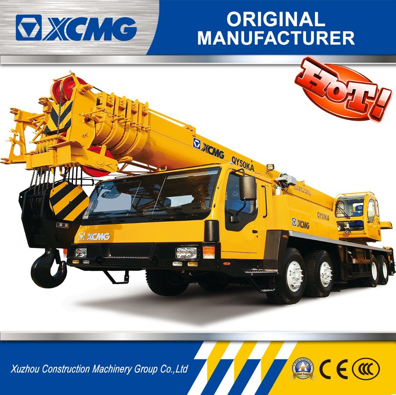[Hot Item] XCMG Factory 50 Ton Truck Crane, Mobile Crane for Sale (QY50KA)