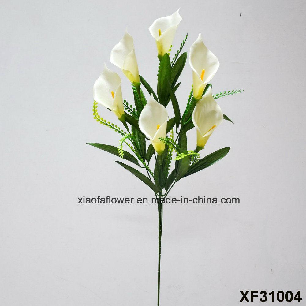 China Artificialplasticsilk Flower Single Stem Of Clla Lily
