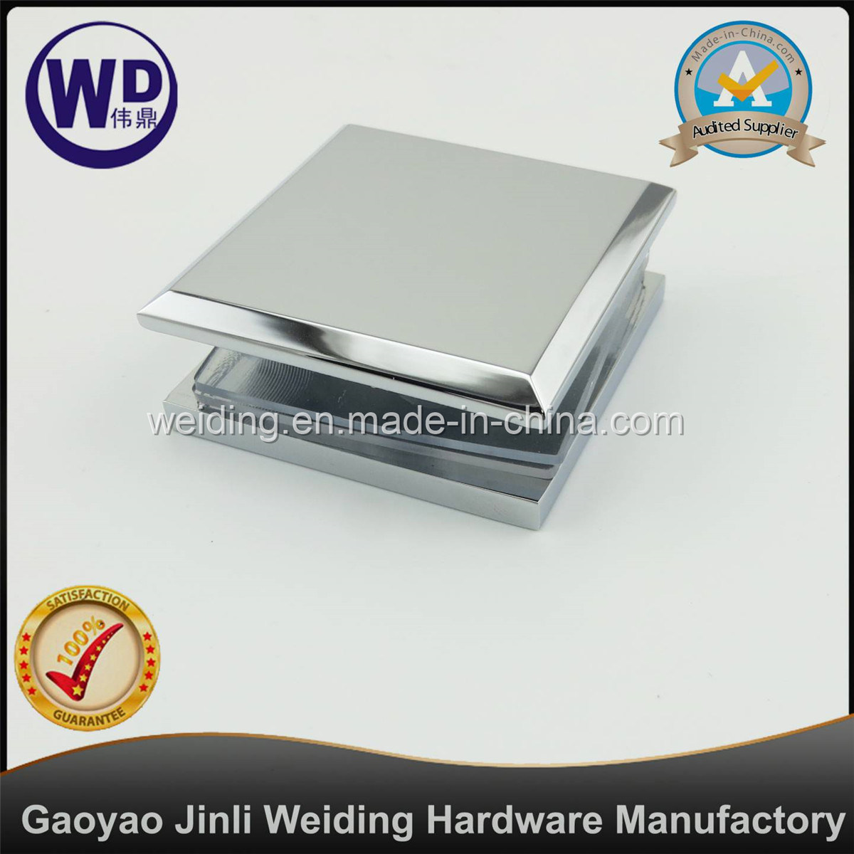Square Wall Mount Glass Clamp Hole in Glass