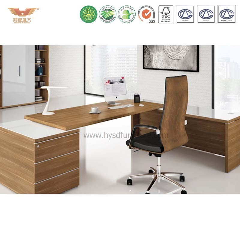 China Foshan Office Executive Desk L Shape Director Table Modern Boss Furniture