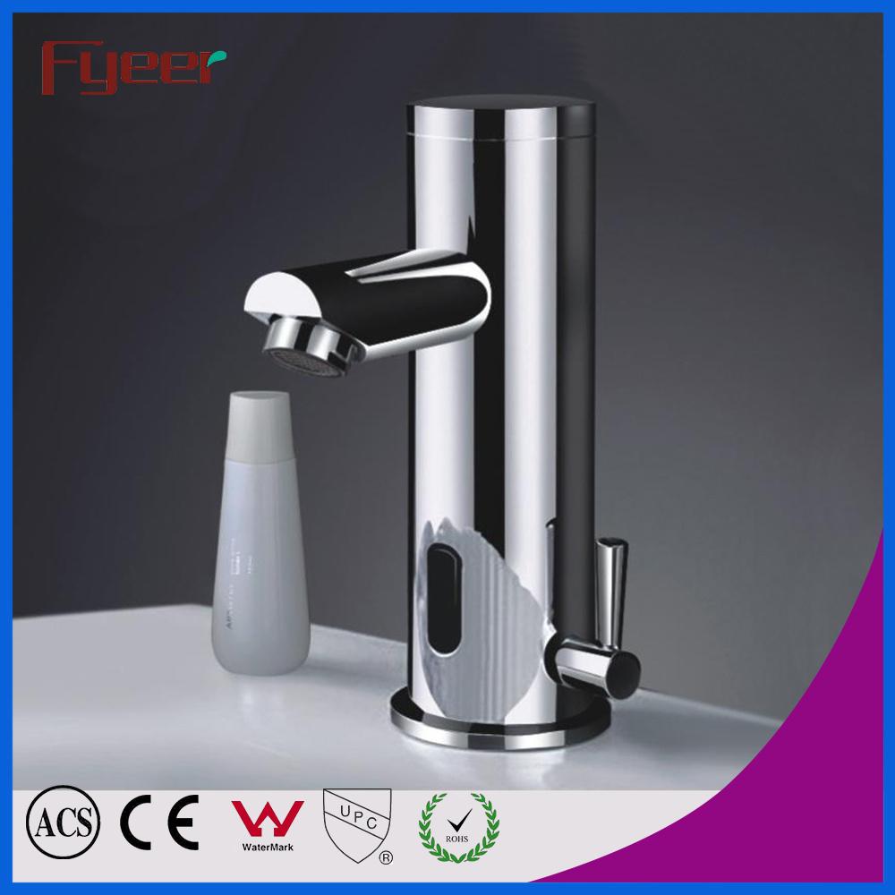 China Fyeer Single Handle Bathroom Automatic Washbasin Sensor Faucet ...