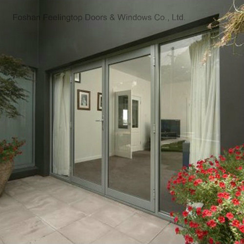 China Commercial Double Glazed Aluminium Door For Interior Door Ft