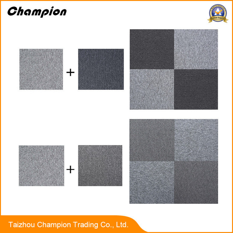 China Commercial Usage Office Floor 100 Pvc Carpet Tiles