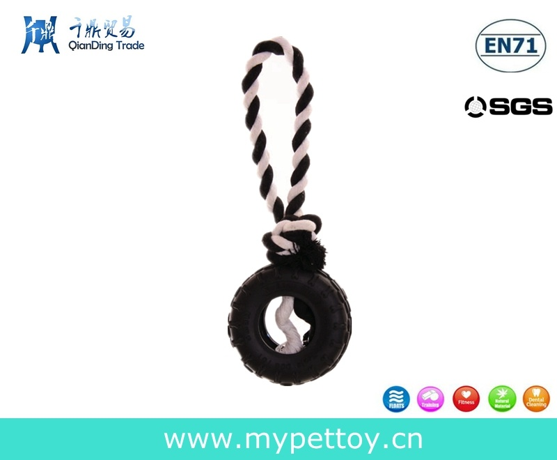 Pets Rubber Tyre Rope Dog Toy