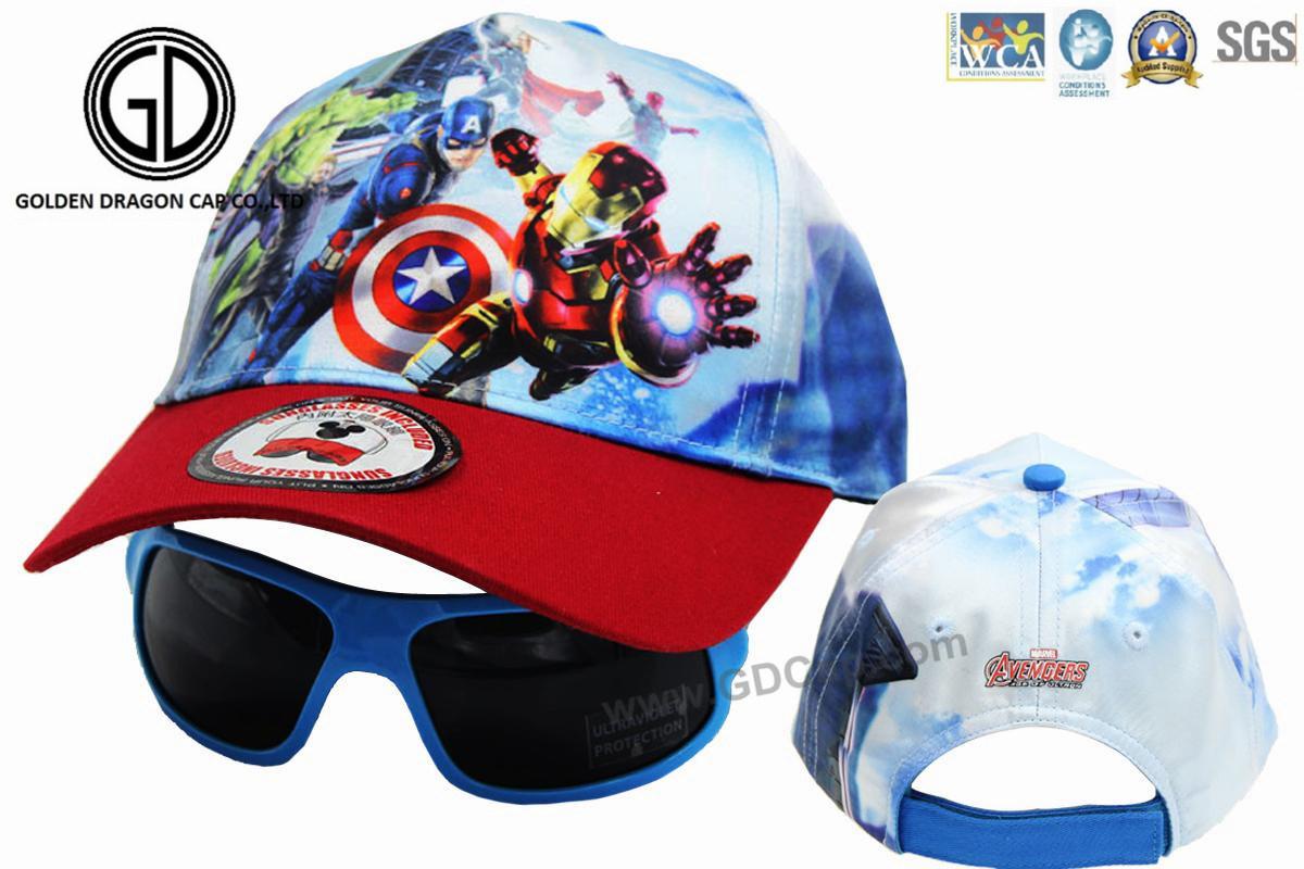 1ce3d6d8fa336 China Kids Superhero Avengers Marvel Baseball Cap with Sunglasses ...