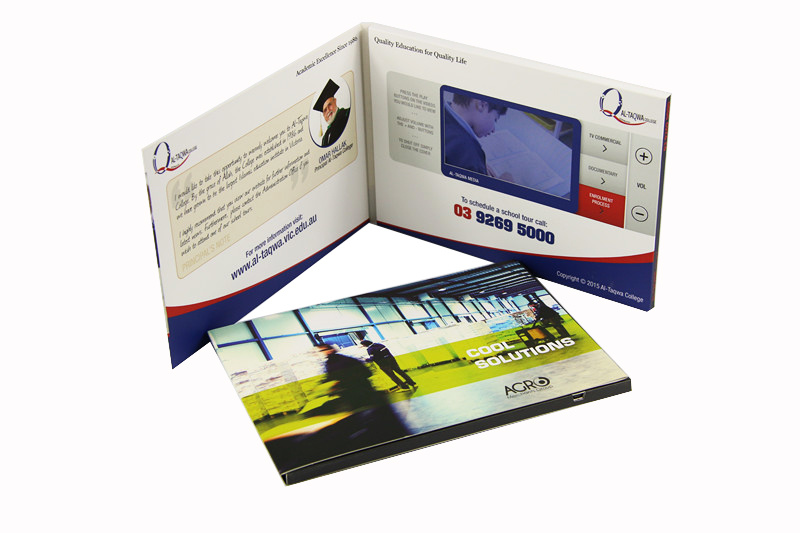 7inch Video Card; Video Brochure
