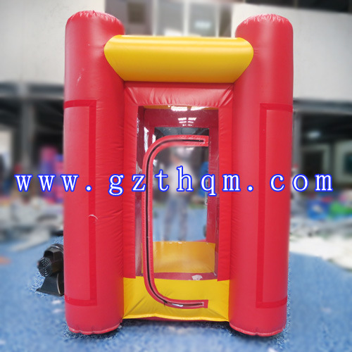 Inflatable Money Catching Machine/Event Red Cube Cash Grab Inflatable Money Booth pictures & photos
