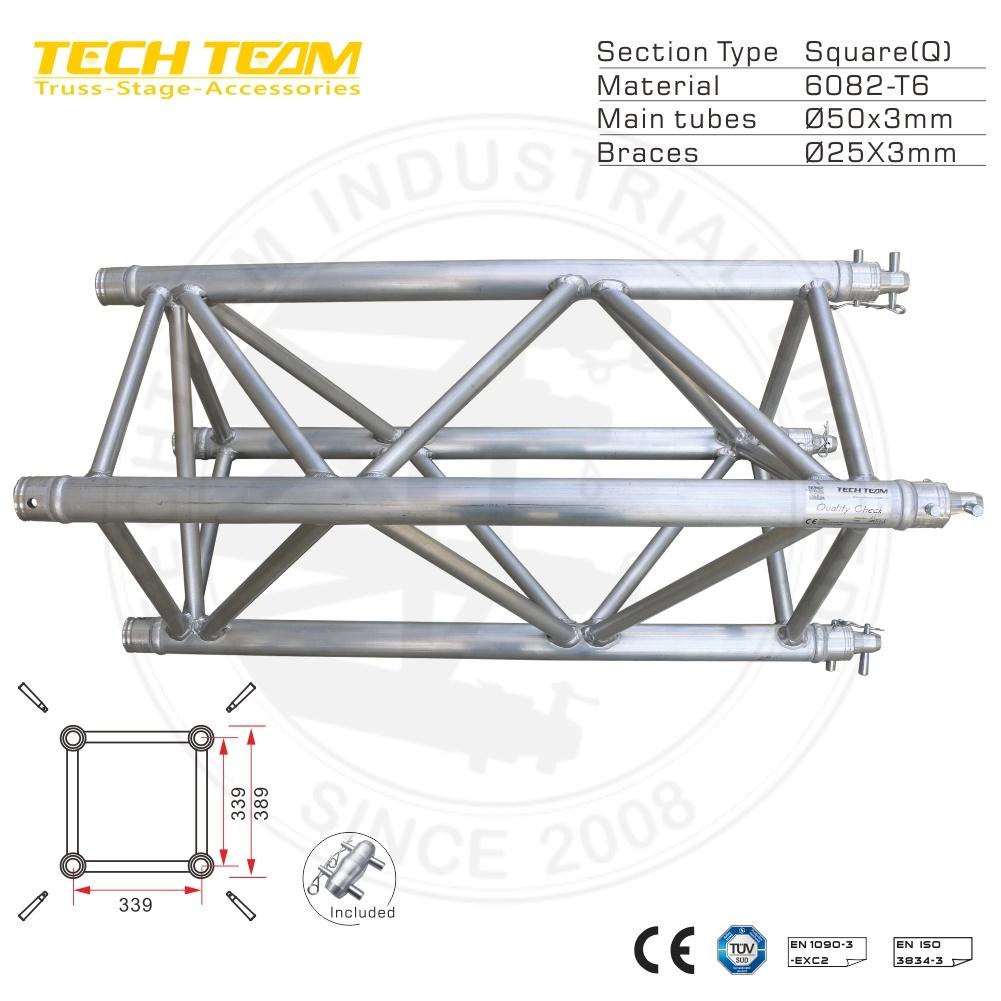 China Aluminum Frame Spigot Square Mini Truss for Decorative - China ...