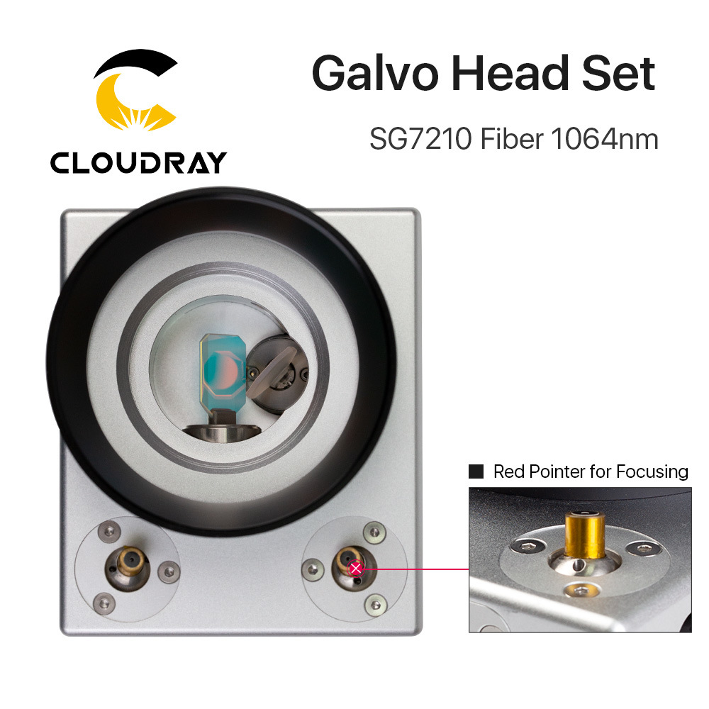 China Cloudray Fiber Laser Galvo Scanner Head Sg7210 with Red