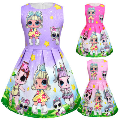 8732689d2dbf China Girls Dress Doll Surprised. Printed Design Casual Loose ...