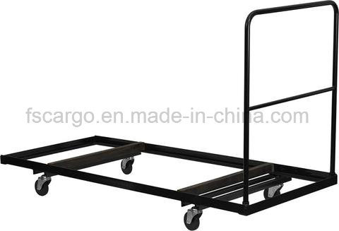 China Black Steel Folding Table Dolly for Rectangular Folding Tables ...