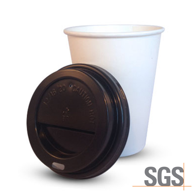 China Disposable Plain White Coffee Cup For Hot Beverage Paper Pe Coated