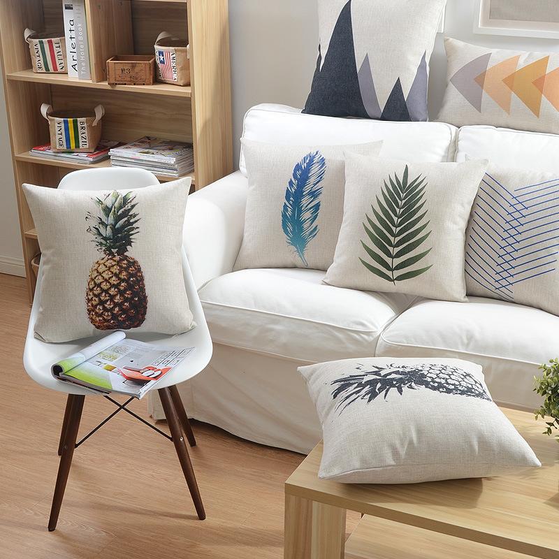 Square Cotton Plain Seat Cushions