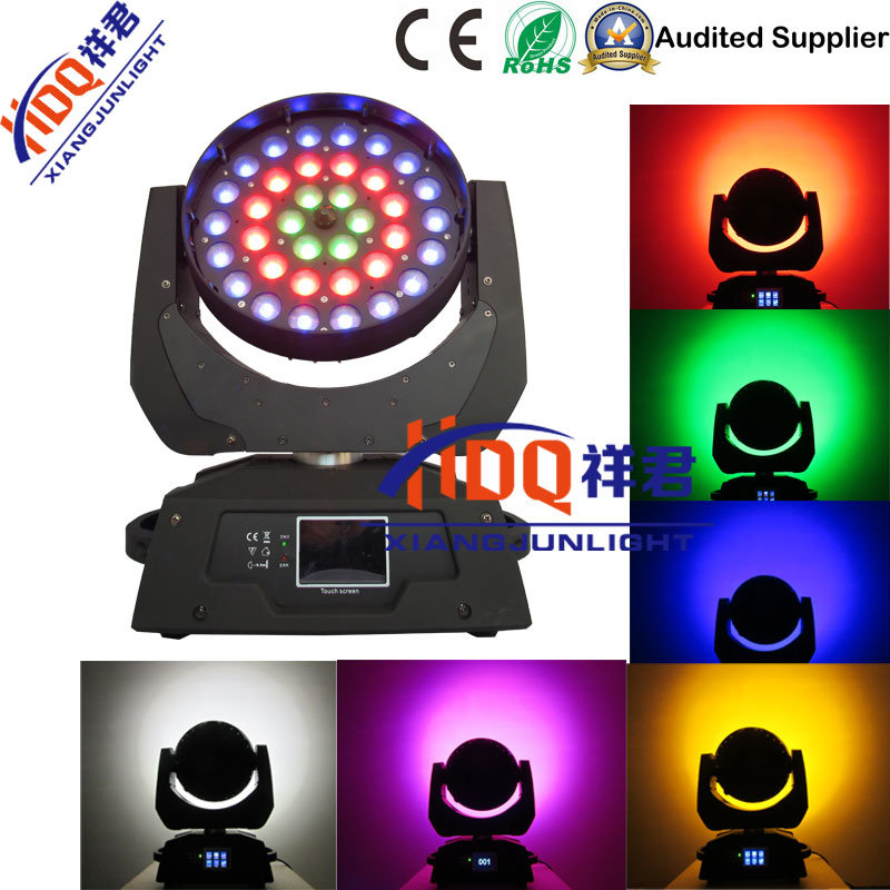36X18W 6in1 Zooming Bee Eye RGBWA UV LED Moving Head Light