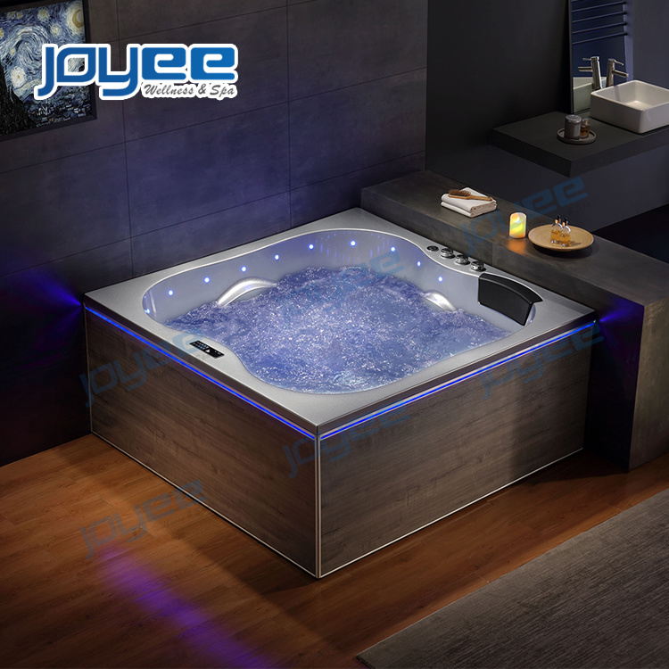 China New Design Modern Bathroom Jacuzzi Indoor Whirlpool Massage Square Hot Tub Spa For 2 3 Persons China Whirlpool Bathtub Indoor Jacuzzi
