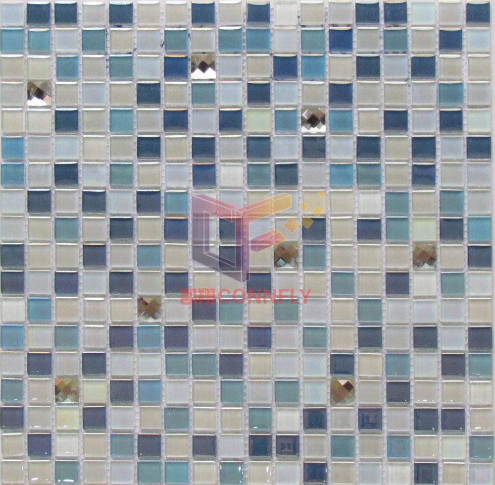 China Bathroom Used Glass Mosaic Tiles (CFC298) - China Glass Mosaic ...