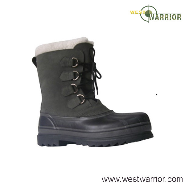 China Military Stitched Snow Boots with