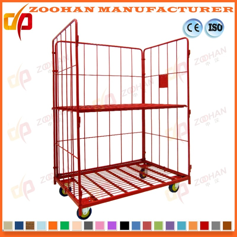 China Stackable Folding Galvanized Metal Shopping Storage Wire Roll ...