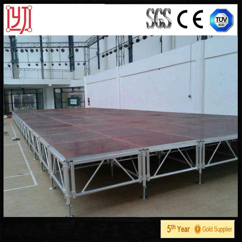 China Aluminum Frame Stage Platforms Adjustable 0.4m-2m - China ...