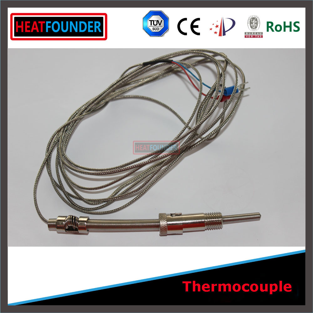 China Armored Thermocouple K Type with 2m Compensation Wire - China ...