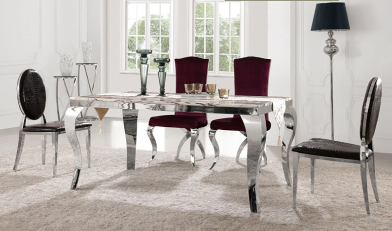 Hot Item Foshan Furniture Whole Modern Cafe Bistro Dining Table Set With Chairs