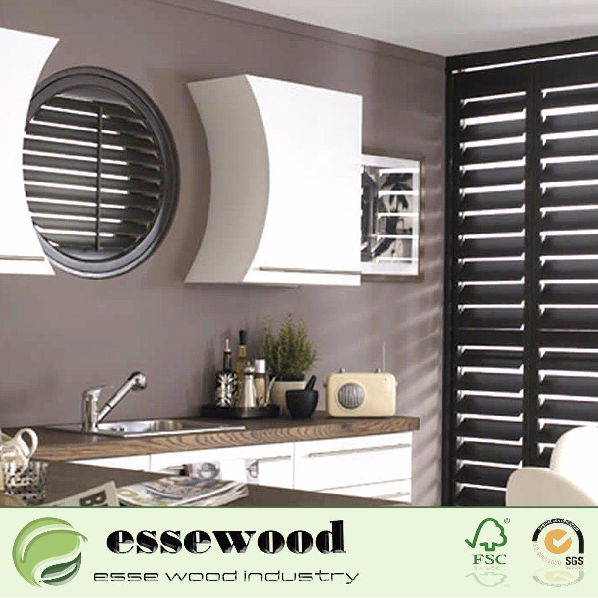 China Round Design Irregular Shape Wooden Shutter Photos