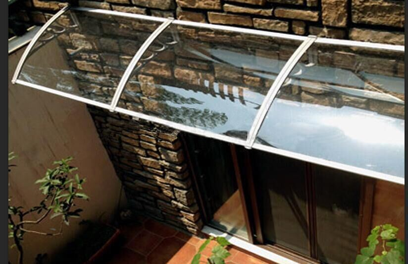 China Stainless Steel Polycarbonate Sunshade For Balcony Garden Rain Protection Awning Canopy